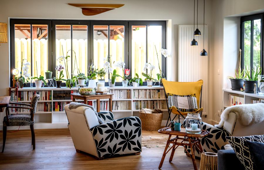 bibliothèque de salon Artitude Architecte d'intérieur à Arcachon et Bordeaux