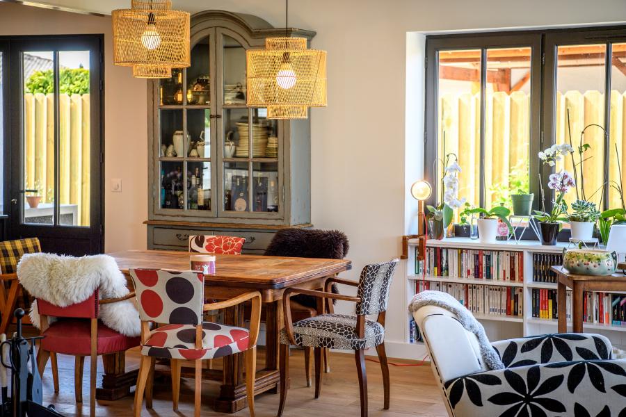 Artitude Architecte d'intérieur à Arcachon et Bordeaux Salon avec imprimés