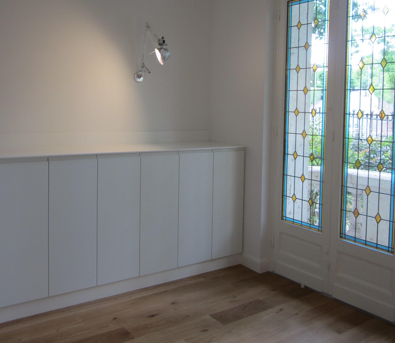 Artitude Architecte d'intérieur à Arcachon et Bordeaux Dressing entrée épurée