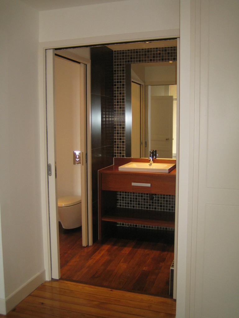 Artitude Architecte d'intérieur à Arcachon et Bordeaux salle de bain à galandage