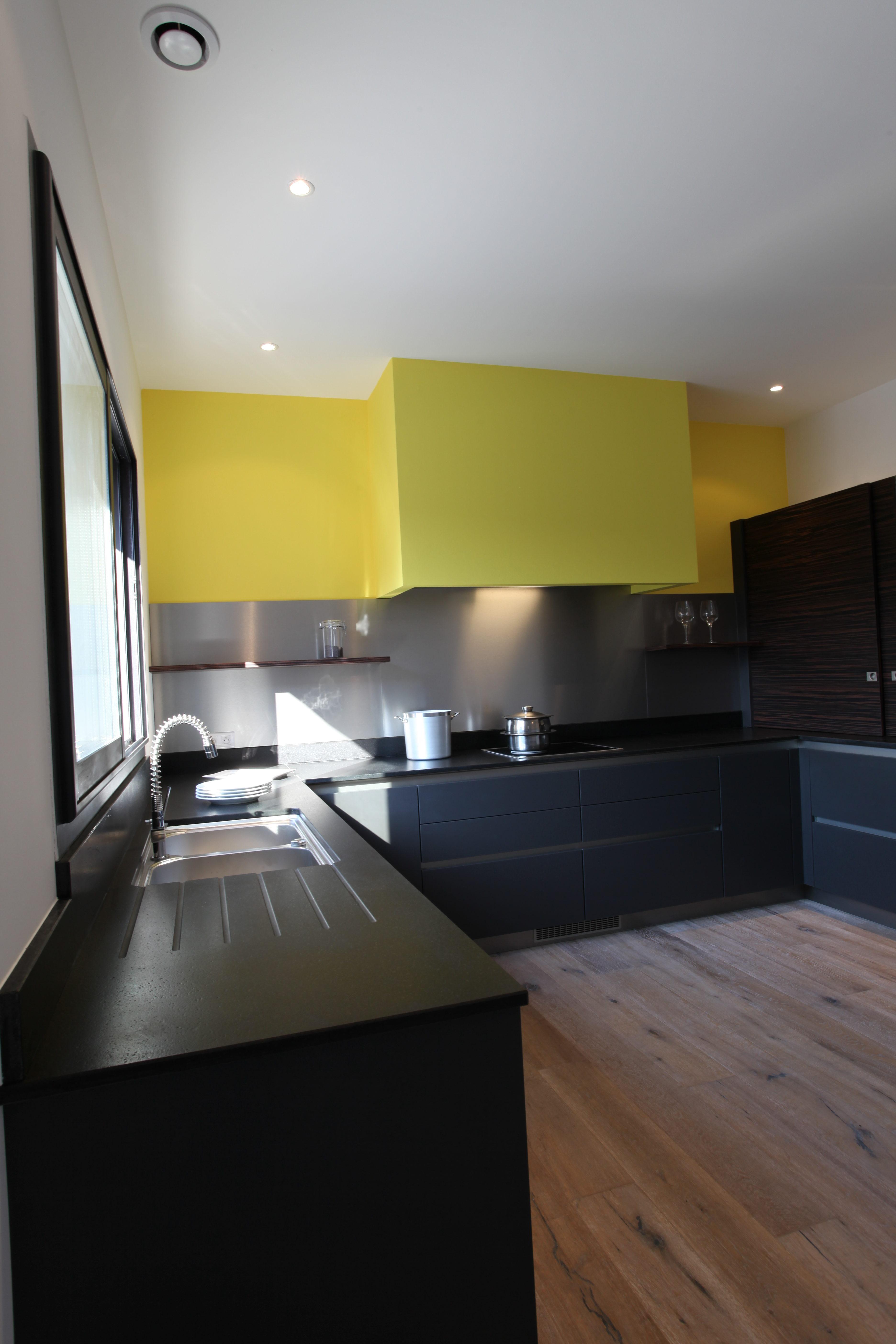 Artitude Architecte d'intérieur à Arcachon et Bordeaux Cuisine jaune moderne