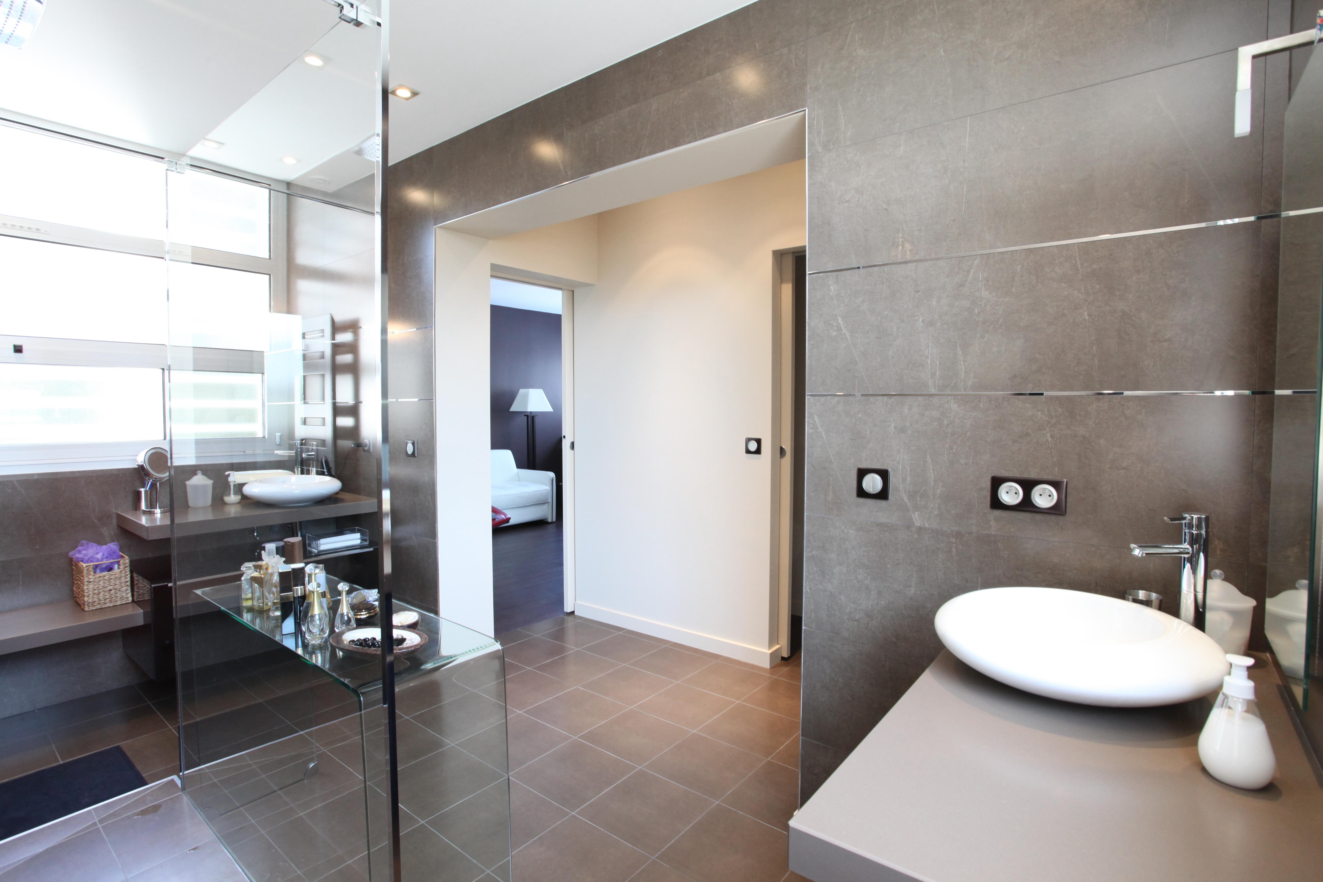 Artitude Architecte d'intérieur à Arcachon et Bordeaux salle de bain volume ouvert