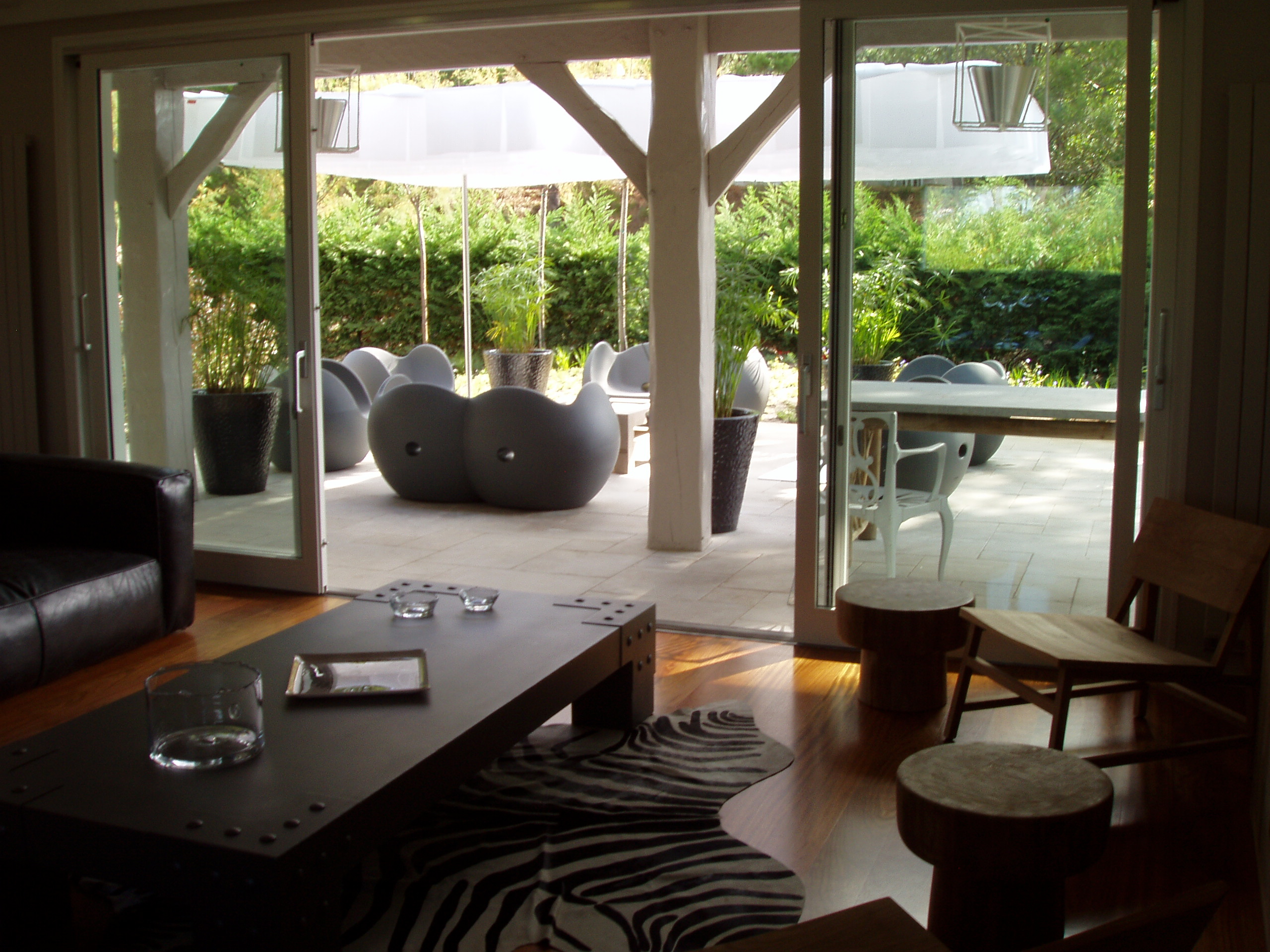 salon et terrasse cosy Artitude Architecte d'intérieur à Arcachon et Bordeaux