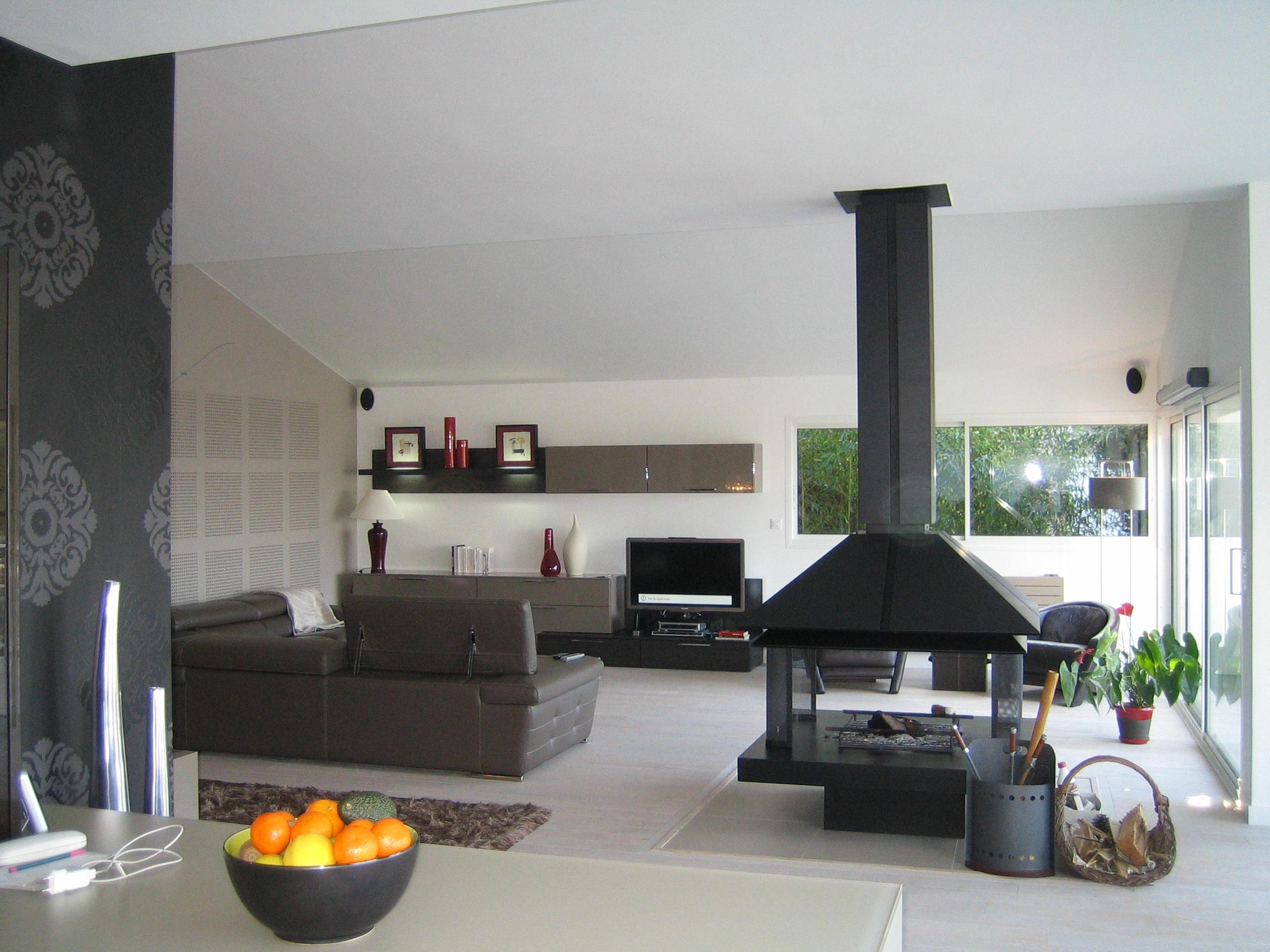 salon contemporain Artitude Architecte d'intérieur à Arcachon et Bordeaux